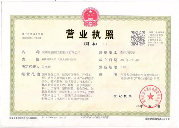 隆盛翔工程营业执照