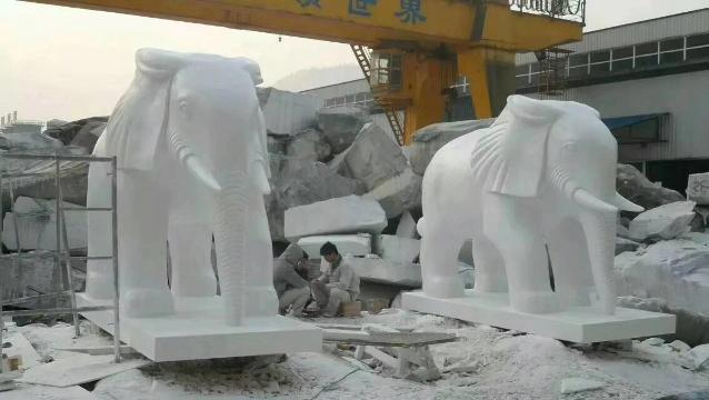 汉白玉大象定制