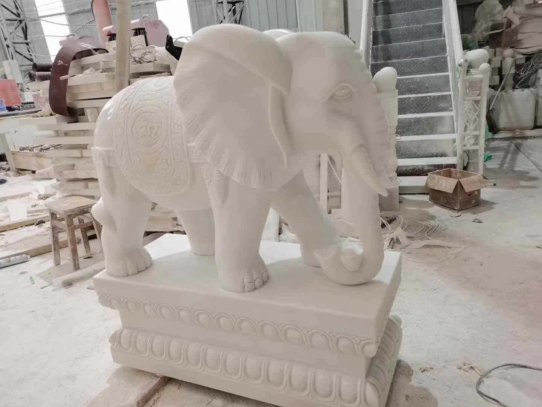 定制汉白玉大象