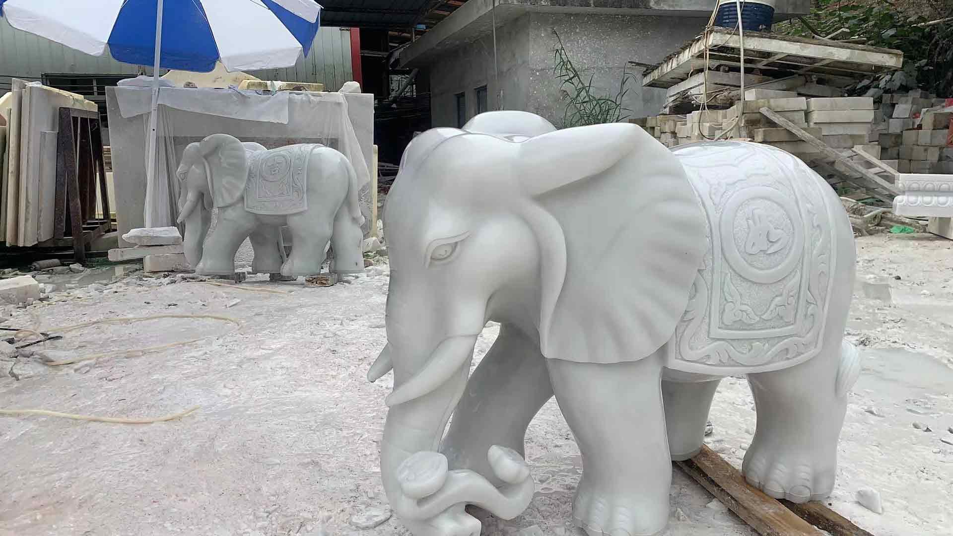 批发汉白玉大象