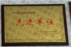 2013年度税收贡献先进单位