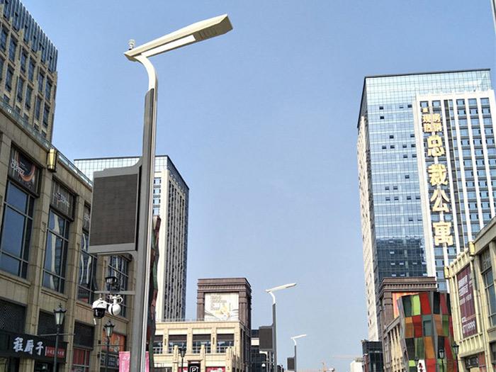 中海国际智慧路灯安装案例