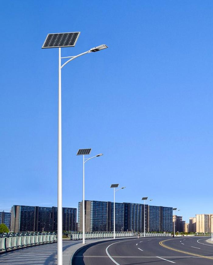 太阳能路灯安装展示
