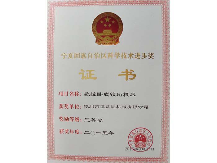 宁夏回族自治区科学技术进步奖