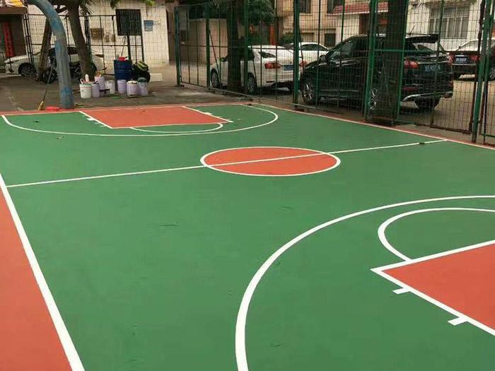 宁夏硅pu篮球场施工
