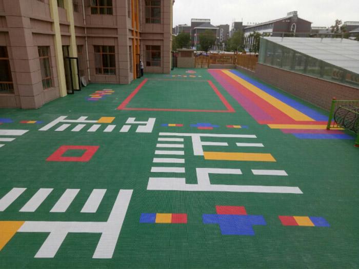 中瀛御景幼儿园PVC塑胶地板施工