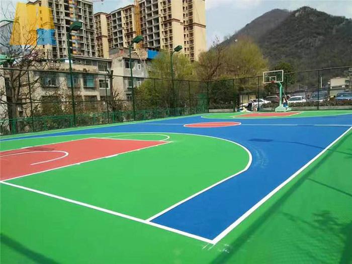 硅pu篮球场施工为什么会被普及?看完文章你就明白了!