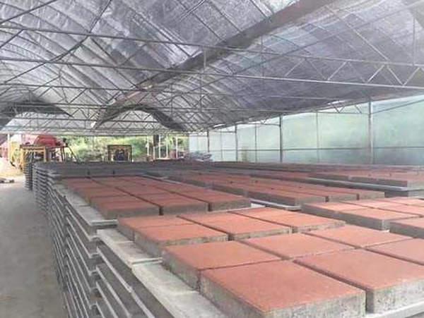 透水砖厂房环境