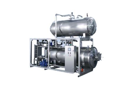 乳品生產線熱水回轉式殺菌鍋