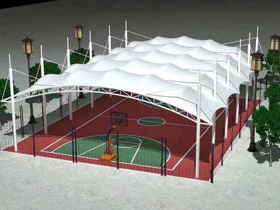 四川篮球场膜结构