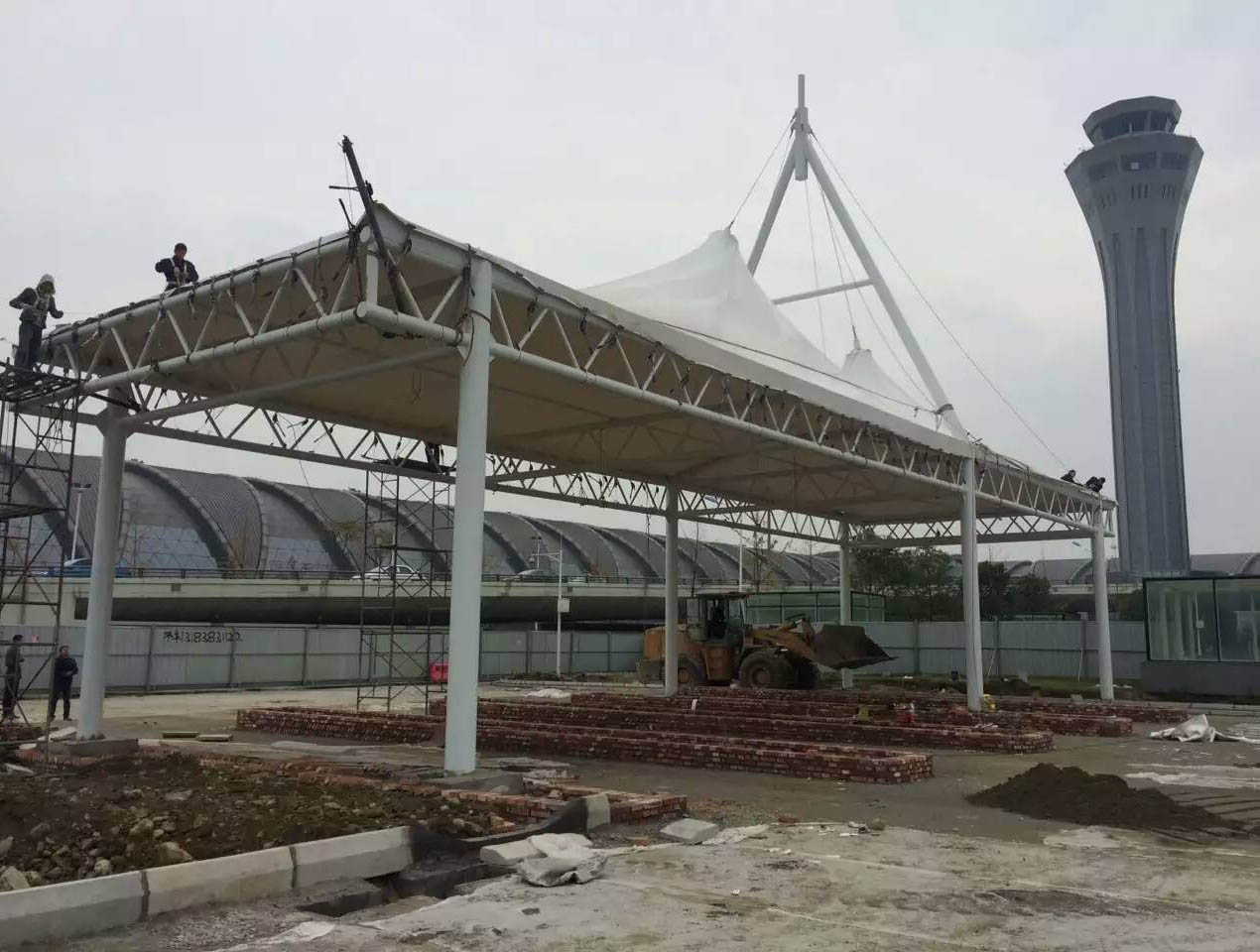 成都市双流国际机场收费站膜结构工程