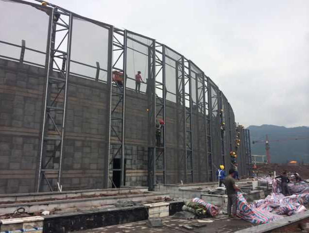 四川达州莲花湖文演中心PTFE膜结构工程