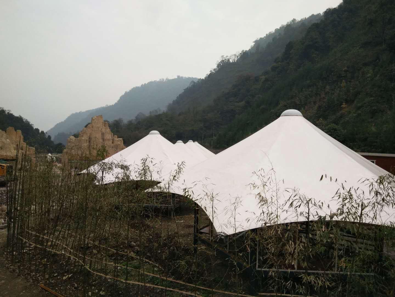 四川雅安空石林帐篷酒店膜结构工程