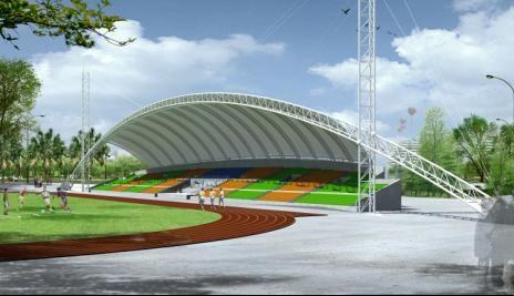 四川体育场看台膜结构