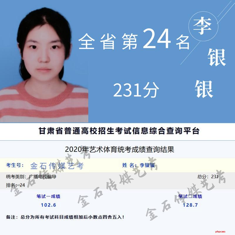 甘肃省统考第24名