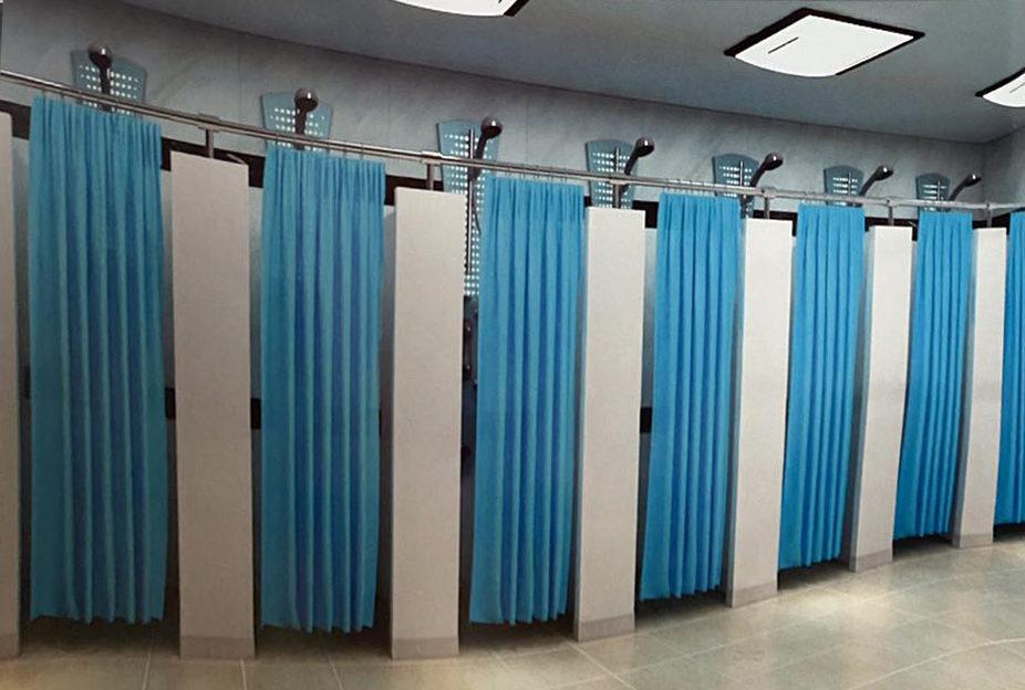 半开放式浴室隔断