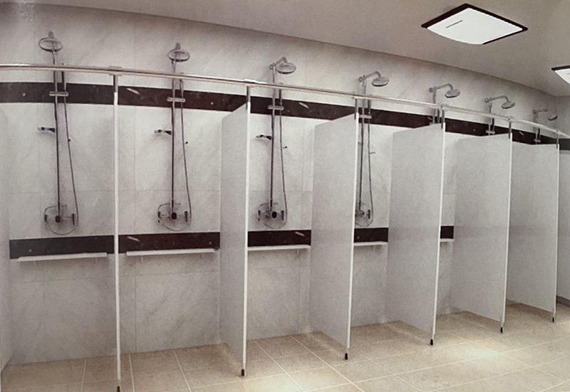 开放式金属浴室隔断