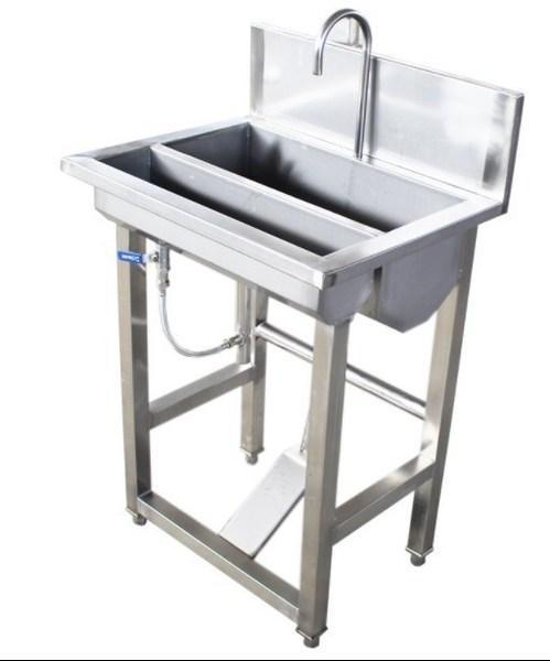 净化脚踏式不锈钢洗手池