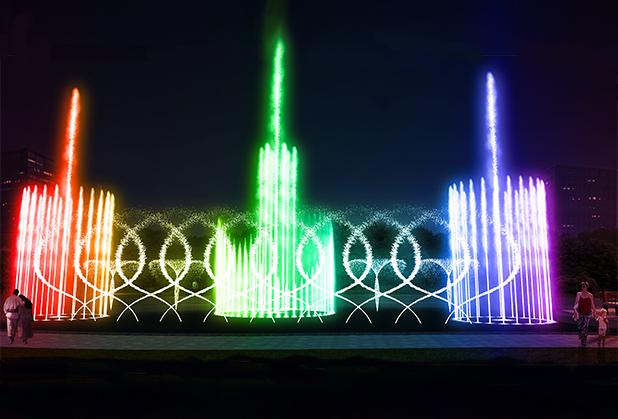 四川河道喷泉