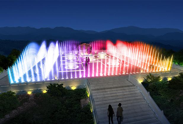 四川音乐喷泉在清洗方法