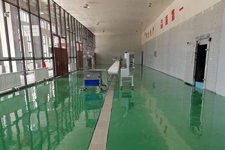 广河扶贫食品车间树脂环氧地坪施工现场