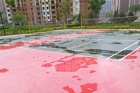 安宁小区球场环氧地坪漆涂料