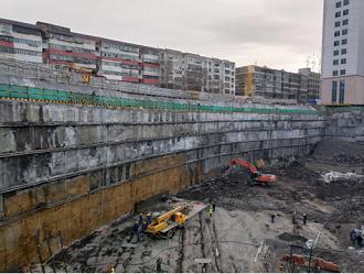 旭尚鸿承建的乌鲁木齐市友谊医院基坑支护项目成果展示