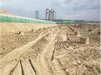 旭尚鸿承建的新疆大学新校区基坑钻孔灌注桩工程成果展示