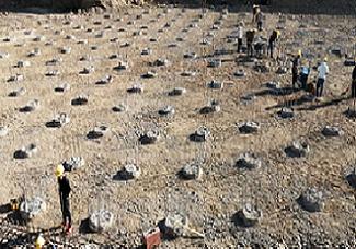旭尚鸿承建的新疆宜化矿业有限公司旋挖灌注桩项目成果展示