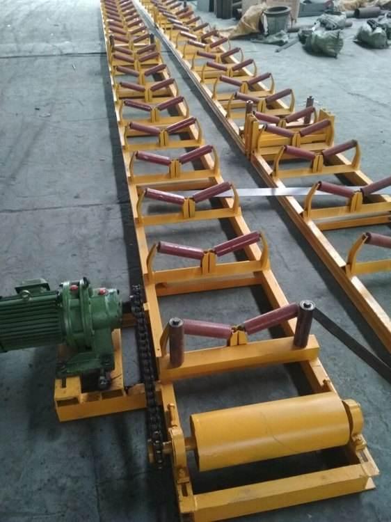 托輥支架在輸送機械中啟到什么用途?