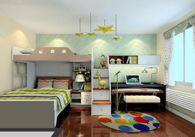 上下床这样设计一下,安全又省空间