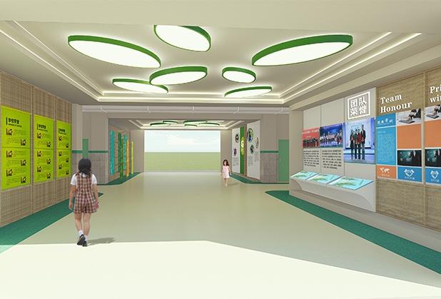 四川学校廊道文化设计