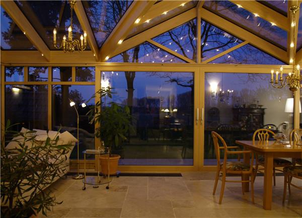 露台玻璃铝合金阳光房 铝合金玻璃阳光房 露台花园采光观景房