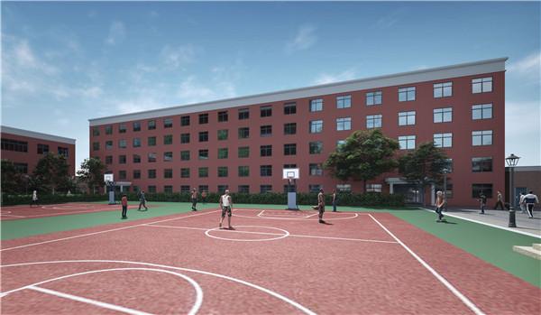 考研寄宿学校篮球场