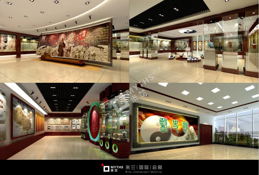 中医药大学校史馆的展台搭建
