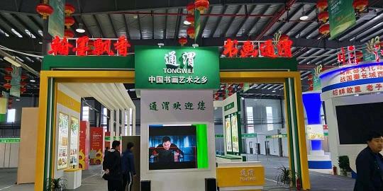 甘肃陇西药博会通渭县展台