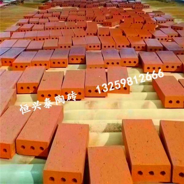 红色带孔陶砖生产
