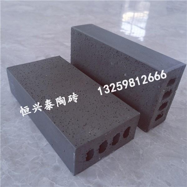 陕西青灰色带孔陶砖