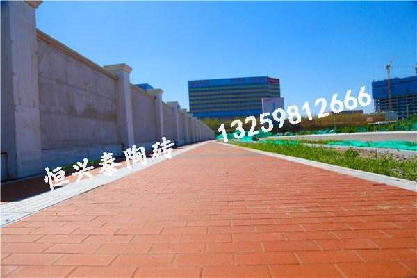 西安国际医学院使用我们的红色陶砖进行铺设