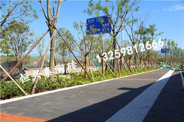 枣薇、竹南路使用青灰色陶砖+红色陶砖