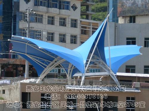 宝鸡凤县一江两岸主席台膜结构工程
