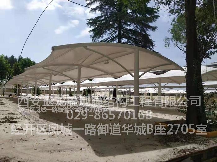惠安集团双排车棚膜结构工程