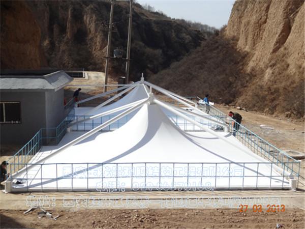 延安炼油厂工业及生活废气物填埋场污水加盖顶棚膜结构工程