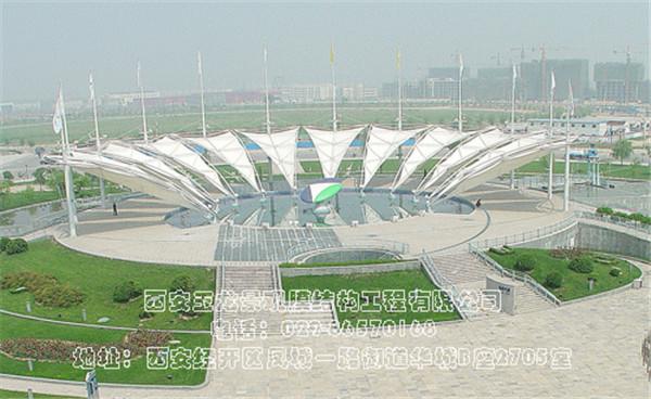 长安科技园景观膜结构工程