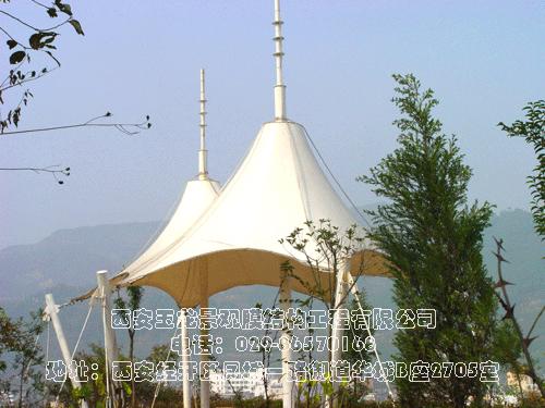 凤县山顶景观膜结构图