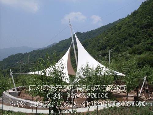 宝鸡凤县岭南公园景观膜结构工程