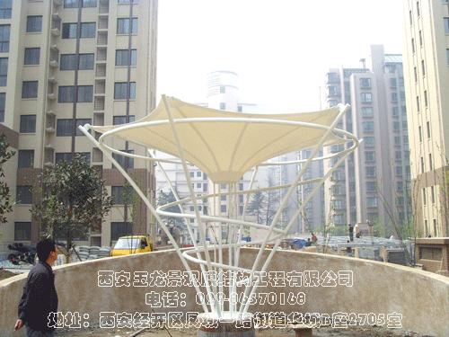 东方馨苑景观膜结构工程