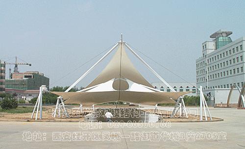 铜川新区供电局地下车库入口膜结构工程