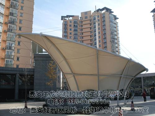 金桥太阳岛大门入口膜结构工程