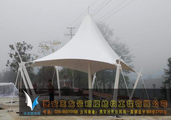 汉阴网球场景观膜结构工程